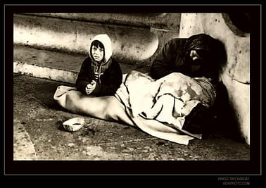 Portrait of a Parisian boy suffering